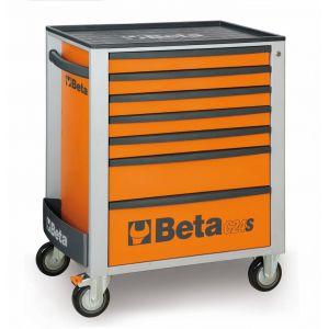 Beta gereedschapswagen met 7-laden oranje