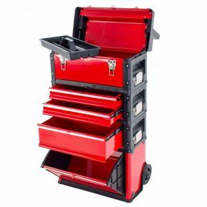 Ragnor gereedschapstrolley met 4 compartimenten rood