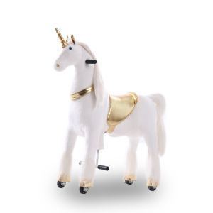 Kijana unicorn rijdend speelgoed goud groot
