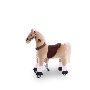 Kijana rijdend speelgoed paard beige klein