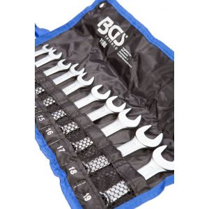 BGS ringsteeksleutelset kort 10-delig 10-19 mm