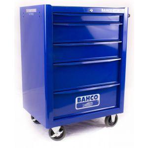 Bahco gereedschapswagen leeg 5 lades blauw