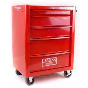 Bahco gereedschapswagen leeg 5 lades rood