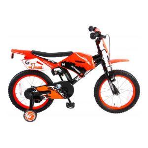 Volare Motorbike Kinderfiets Jongens 16 inch Oranje 95% afgemonteerd