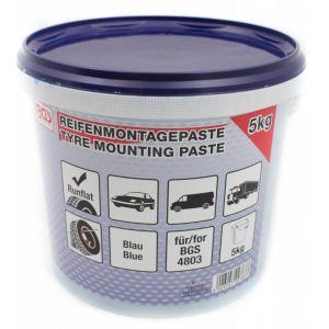 BGS Bandenmontagepasta voor Run-Flat-banden | blauw | 5 kg