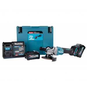 Makita GA005GM201 40V accu 125 mm haakse slijper 2x 4.0Ah in Mbox