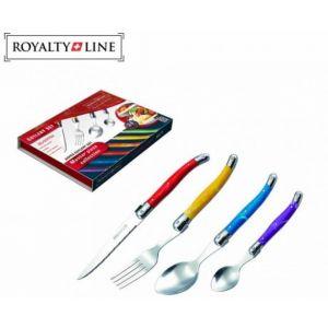 Royalty Line bestekset met gekleurde handgrepen 24-delig