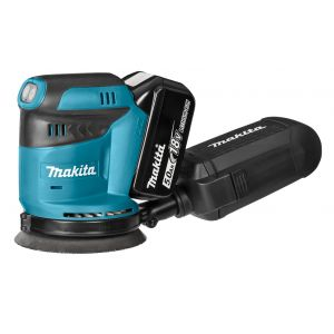 Makita DBO180RTJ 18V accu 125 mm excenter schuurmachine 2x 5.0Ah in Mbox