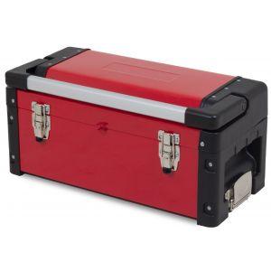 Ragnor gereedschapskoffer met groot compartiment en inlegbak rood