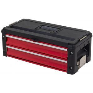 Ragnor gereedschapskoffer met twee compartimenten rood