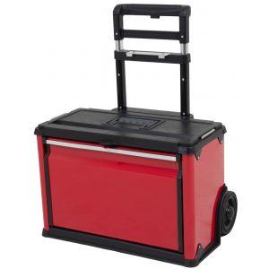 Ragnor gereedschapstrolley met uitschuifbaar handvat rood