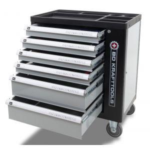 BDKraft gereedschapswagen 'Grey Edition' gevuld 169-delig 6 lades