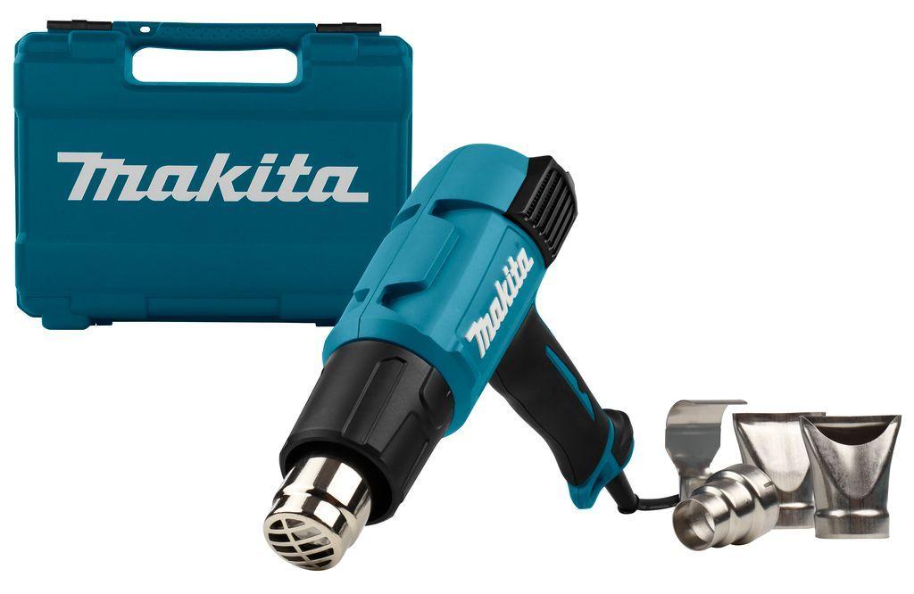 Makita HG6531CK heteluchtpistool met elektroniche regeling + accessoires in koffer 230V