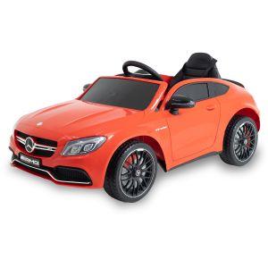 Mercedes elektrische kinderauto C63 AMG rood