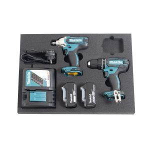 Makita 18V accu 2-delige combopack DHP482 + DTW190 2x 5.0Ah in softmodule klein