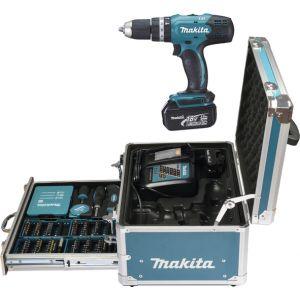 Makita DHP453RFX2 18V accu klopboor- en schroefmachine 2x 3.0Ah met accessoire in koffer