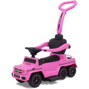 Mercedes loopauto G-klasse met 6 wielen roze