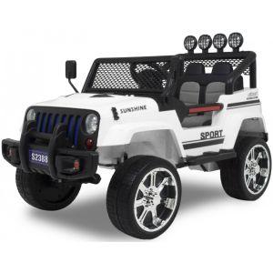Monster Jeep elektrische kinderauto wit