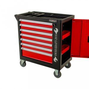BDKraft gereedschapswagen met zijdeur 'Red Master' leeg 7 lades