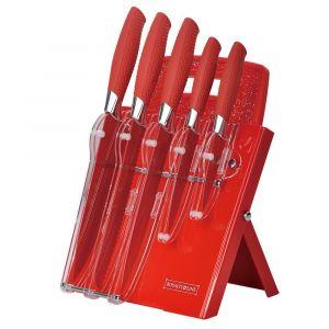 Royalty Line messenset 7-delig inclusief luxe houder in rood