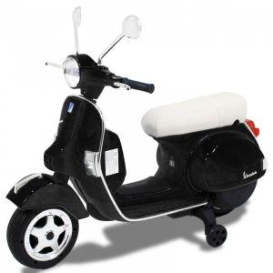 Vespa elektrische kinderscooter zwart