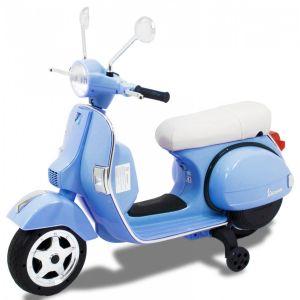 Vespa elektrische kinderscooter blauw