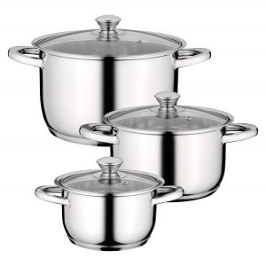 Berghoff 6-delige kookpannen set Gourmet Stainless Steel Essentials