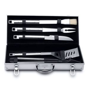 Berghoff 6-delige barbecueset in aluminium koffer Essentials