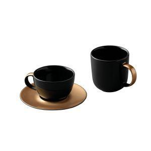 Berghoff 3-delige koffie- en theeset zwart