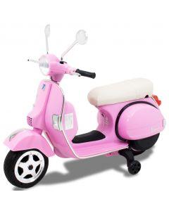 Vespa elektrische kinderscooter roze